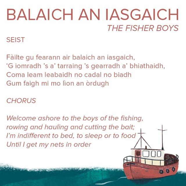 Tha an t-òran an-diugh glè aithnichte - Balaich an Iasgaich. Today we have the well known cèilidh song Balaich an Iasgaich (The Fisher Boys) . . . #anlochran #gaelic #gaidhlig #ceol #IYIL2019 #ceilidh