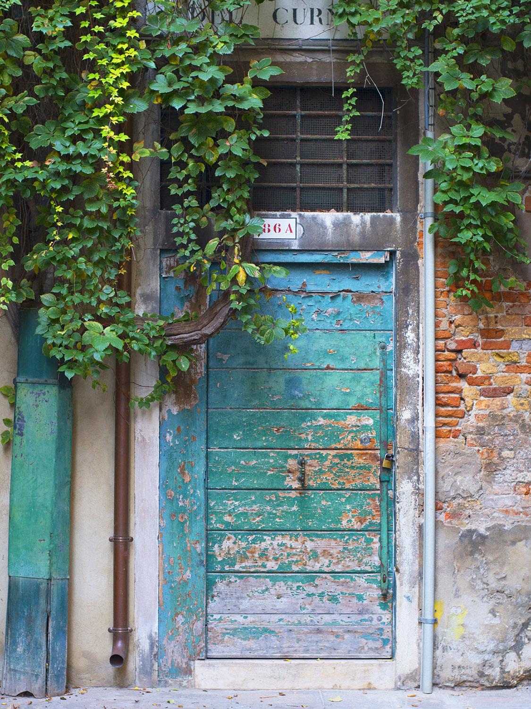 Turquoise City Urban Door Village Photography Art.jpg