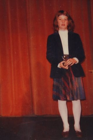 Me, age 10, with my first Be An Author Award.