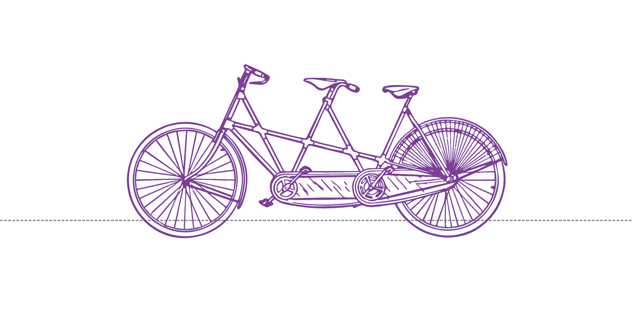 Purple Tandem Bike on white.jpg