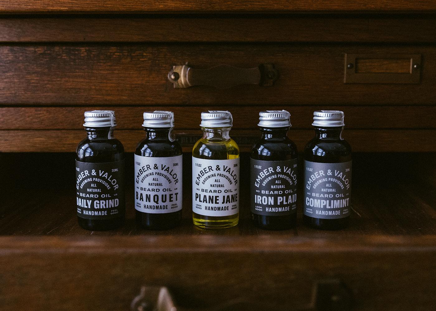 Studio Freight - Ember & Valor Beard Oil Packaging