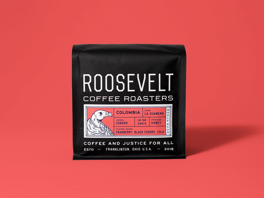 Studio Freight - Roosevelt Coffee Colombia Packaging