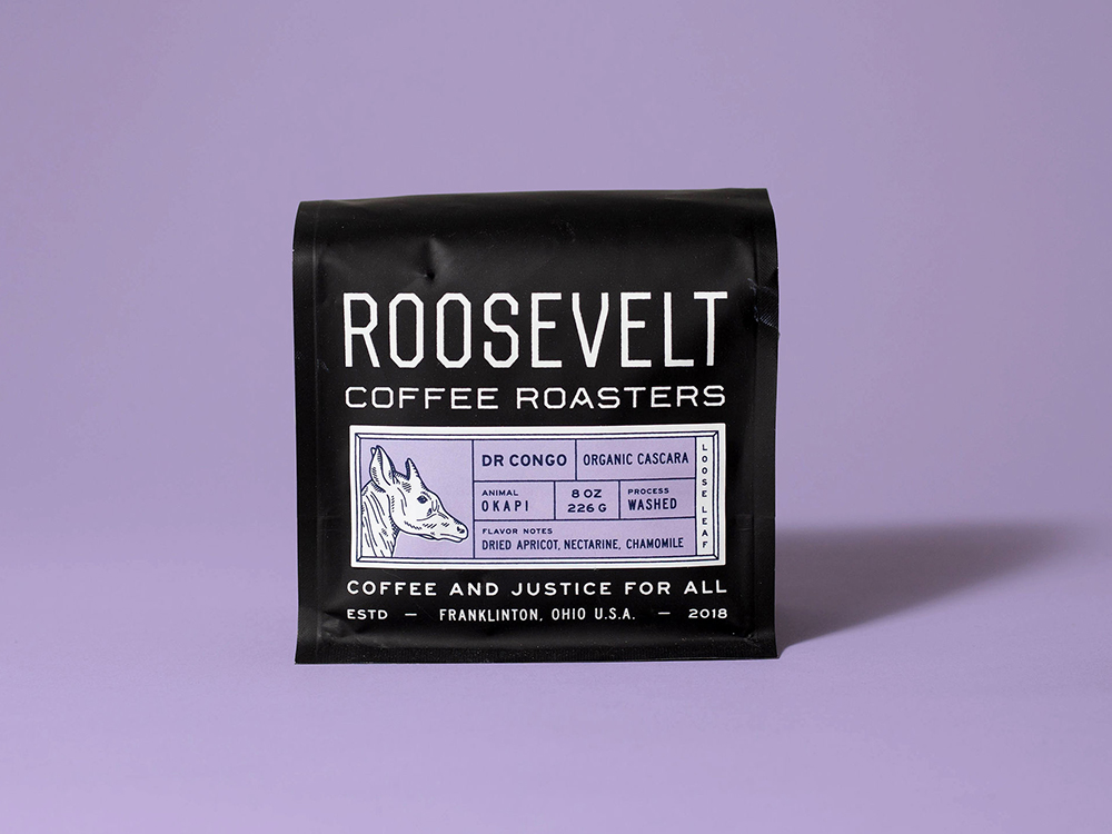 Studio Freight - Roosevelt Coffee Congo Packaging