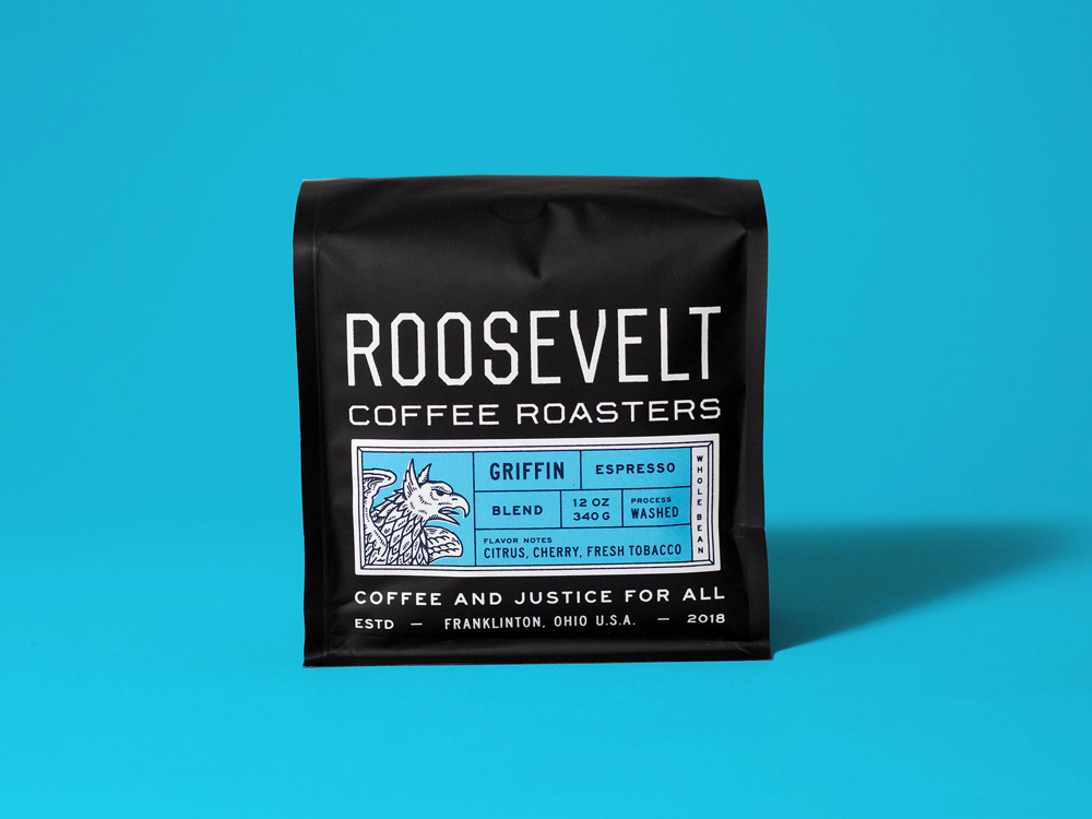 Studio Freight - Roosevelt Coffee Espresso Packaging
