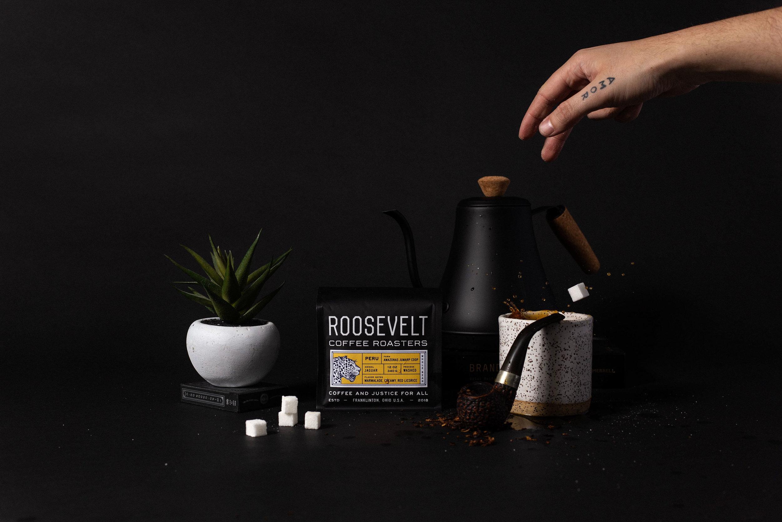 Studio Freight - Roosevelt Coffee Peru Packaging