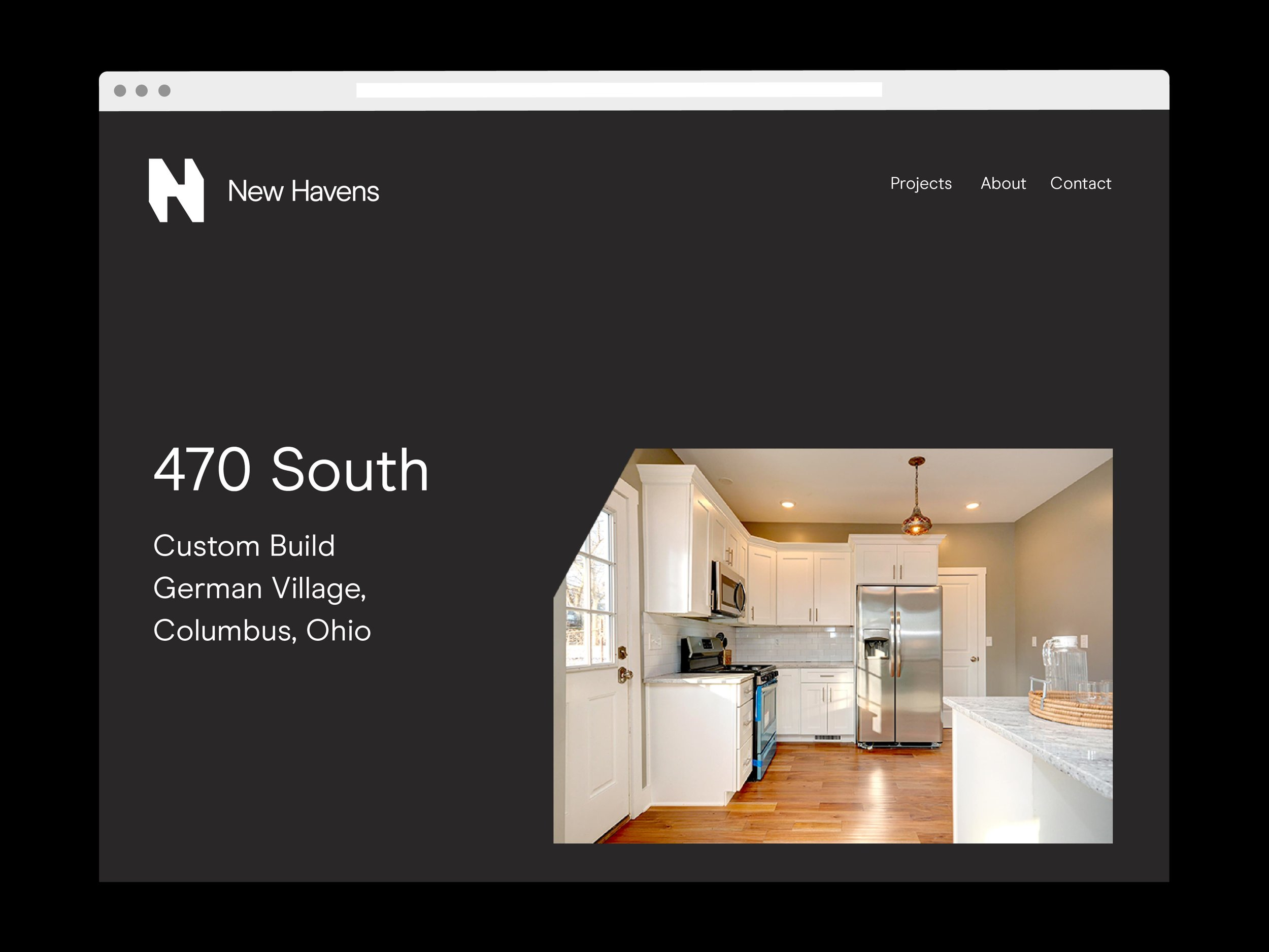Studio Freight - New Havens Website Project Page