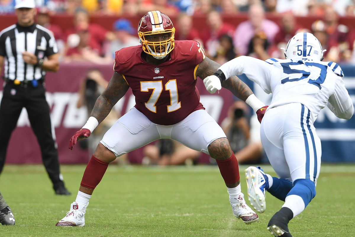 """Trent williams - Per multiple reports, the relationship between the Redskins and Trent Williams has gone sour. Adam Schefter argues that even though Washington is not set on completing a trade, a package including a first round pick and a sixth round pick could """"probably"""" get the deal done."""