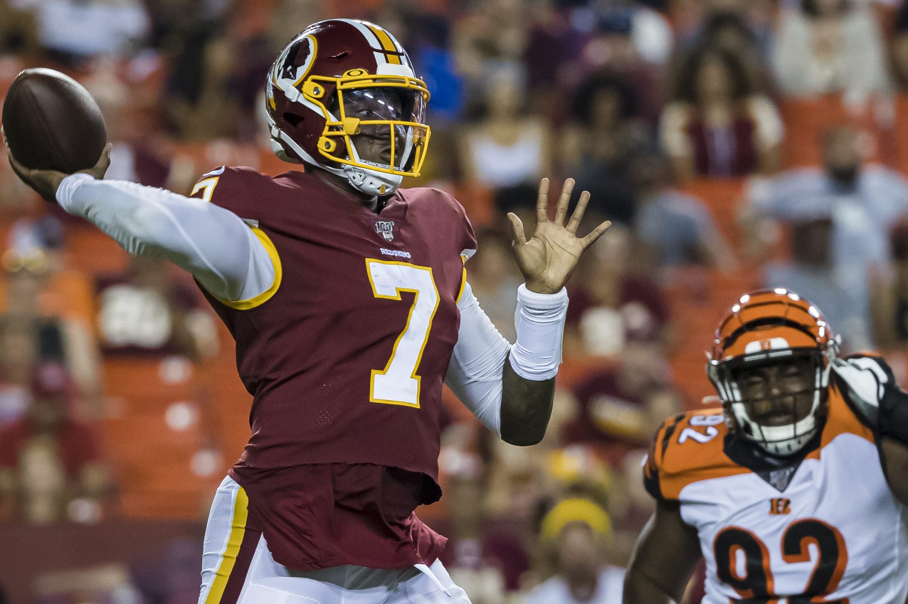 Dwayne haskins - Haskins went 7/14 passing for 114 yards and 1 TD versus the Bengals.