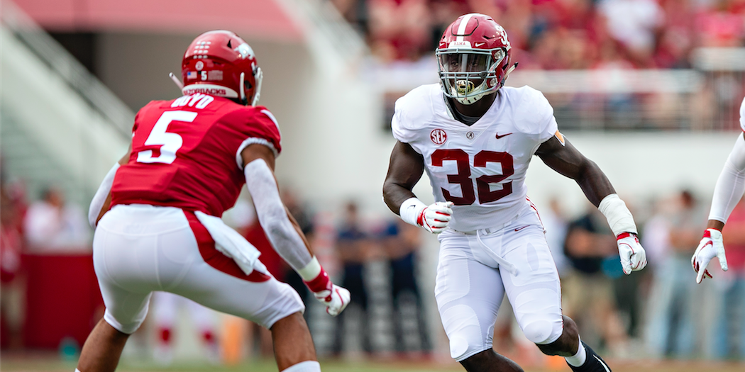 Dylan Moses - Alabama LB, Dylan Moses, suffered an ACL injury that will sideline him for the season. His preliminary scouting grade indicated that he was a top 5 prospect for the 2020 NFL Draft.