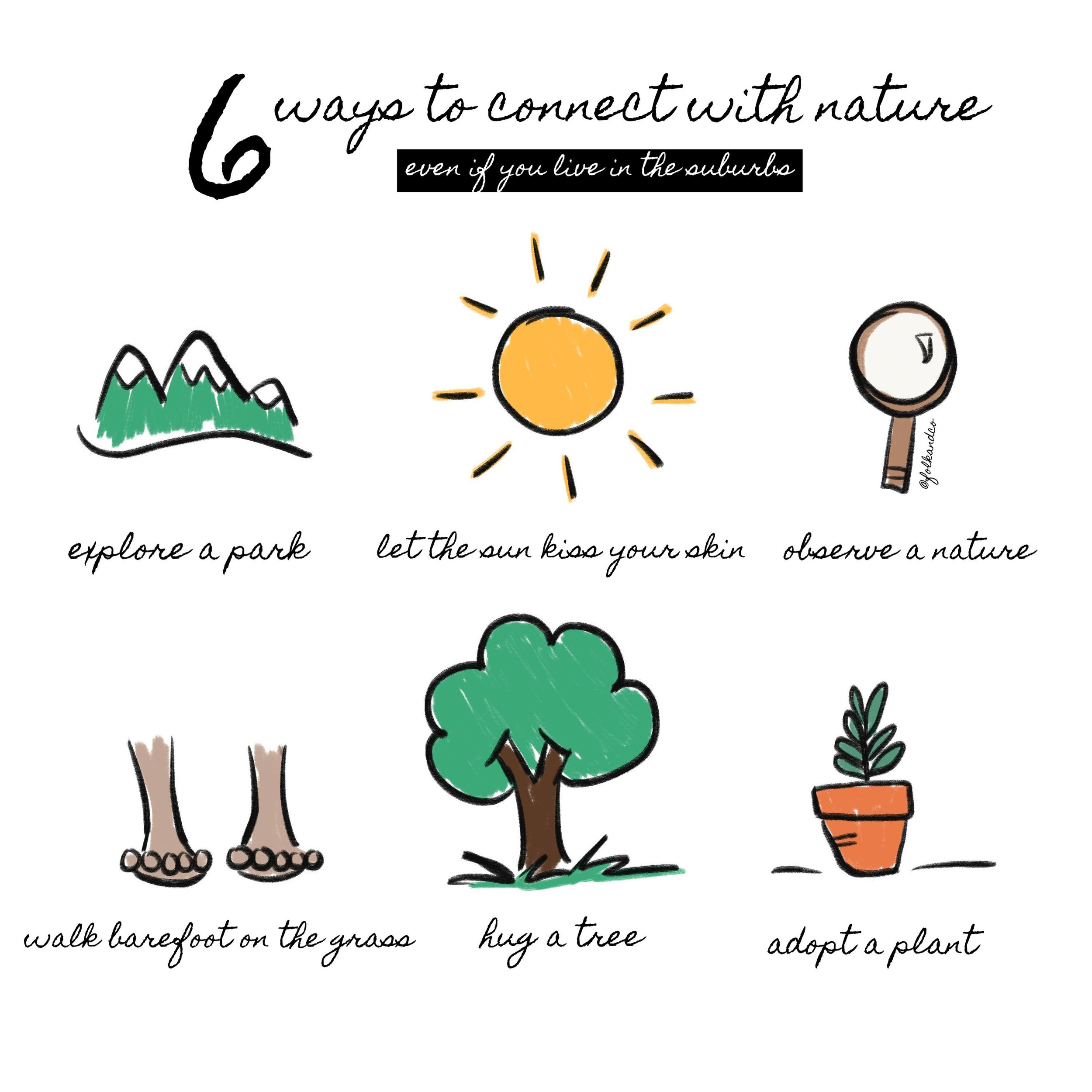 ways to connect with nature in the suburbs