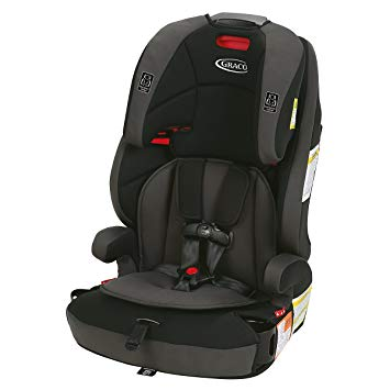 Some booster seats have a 5-point harness that can be removed once a child is old enough to ride correctly 100% of the time. The seat can then be restrained with a shoulder and lap belt. Many booster seats come with removable backs for when a child is ready for that transition.
