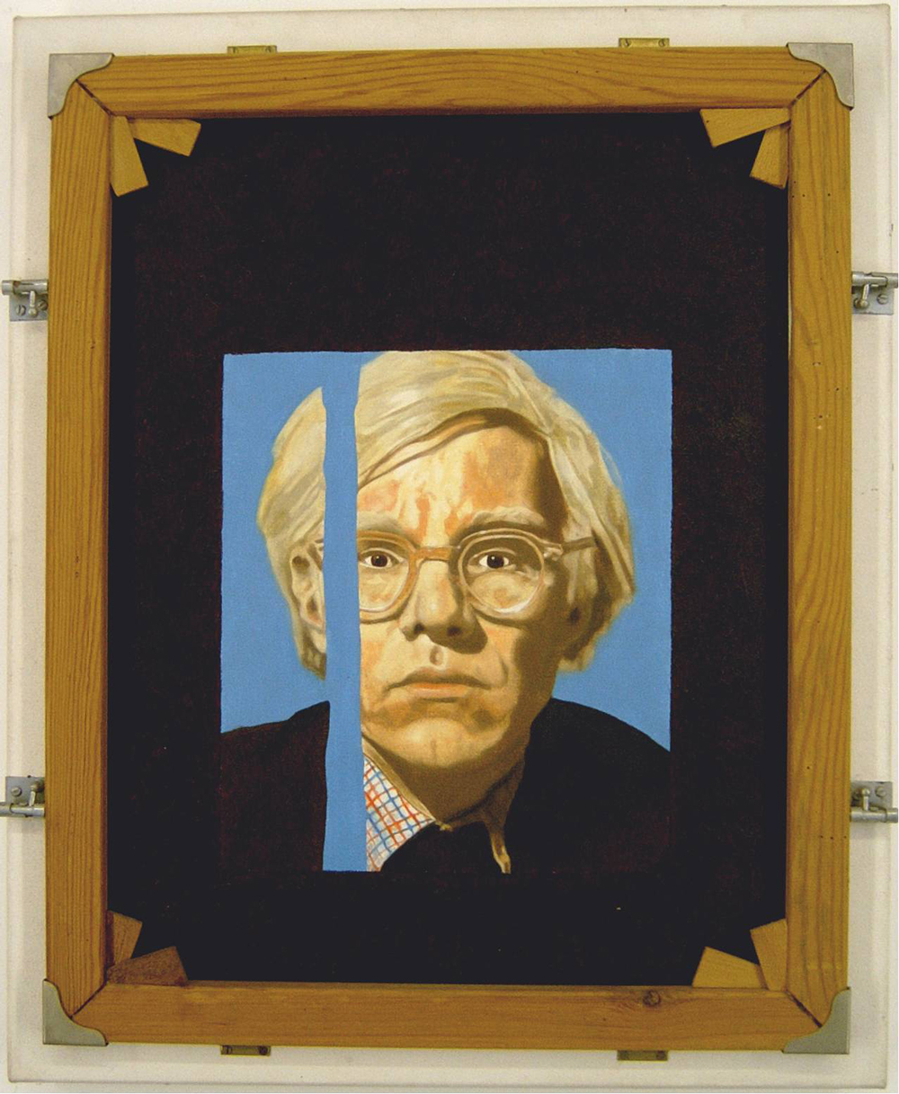 Canvas with Two Stretchers and Andy Warhol