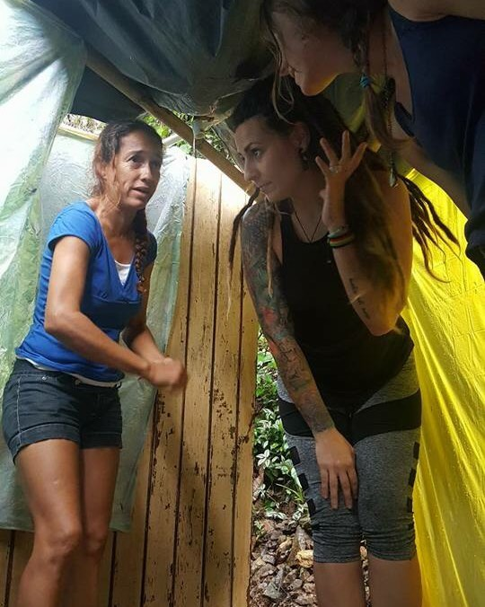 After Hurricane Maria, people were using broken pipes leaking to take showers. Inside these tarps is their shower, still in use today - - - - #hurricanemaria #puertorico #utuado #tarps #disaster #linchpins #survival #documentary #thetruth #puertoricoselevanta #neverforget #film #femalesinfilm #femalefilmakers #wonderwomen