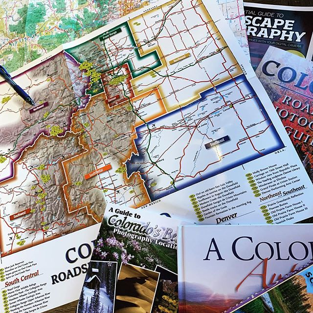 Planning a strategic route to capture some awesome fall photos. This will be reference material for future paintings. Follow more at #davereiterart . . . #outdoors #exploreoutdoors #outdoorfun #funoutside #focusedonmygoals #anticipation #colorado #aspen #davereiterart #explorenature #autumnleaves #autumnvibes #autumncolors #fallcolors #fallcolor #coloradolife #maps #roadtripusa #fallcolors