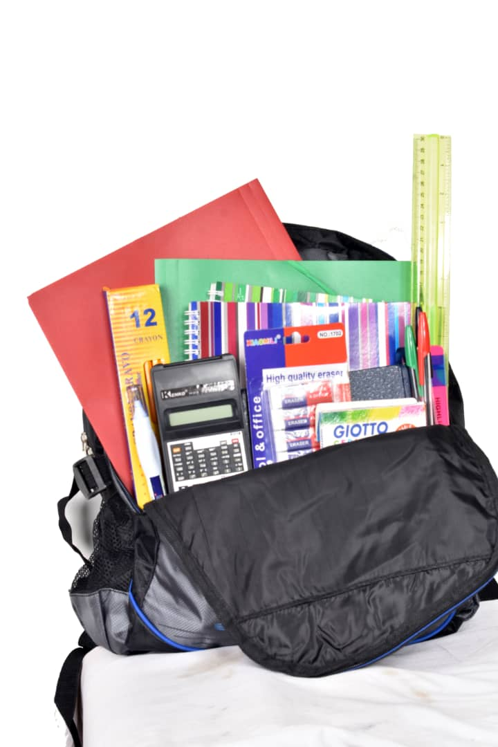 The Kit: - A single kit consists of pencils, pens, erasers, crayons books, book bag, shirt, a geometry set, calculator and more!You can donate a kit to a child for just $19.99