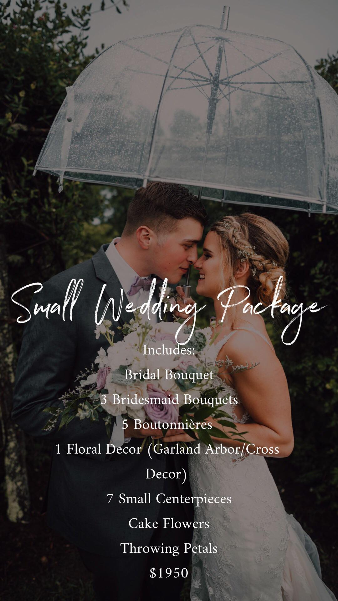 Small Wedding Package- $1950