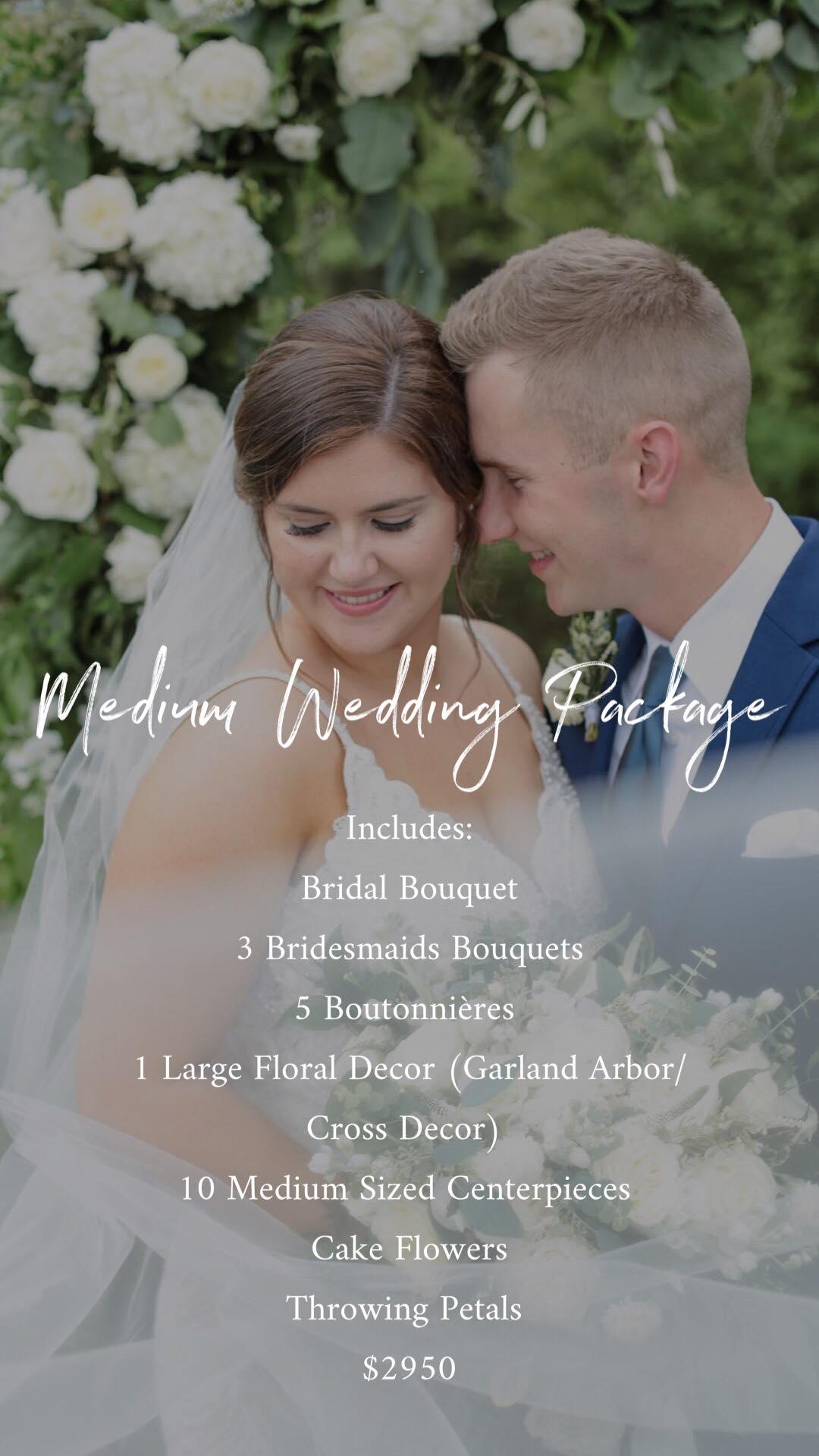 Medium Wedding Package- $2950