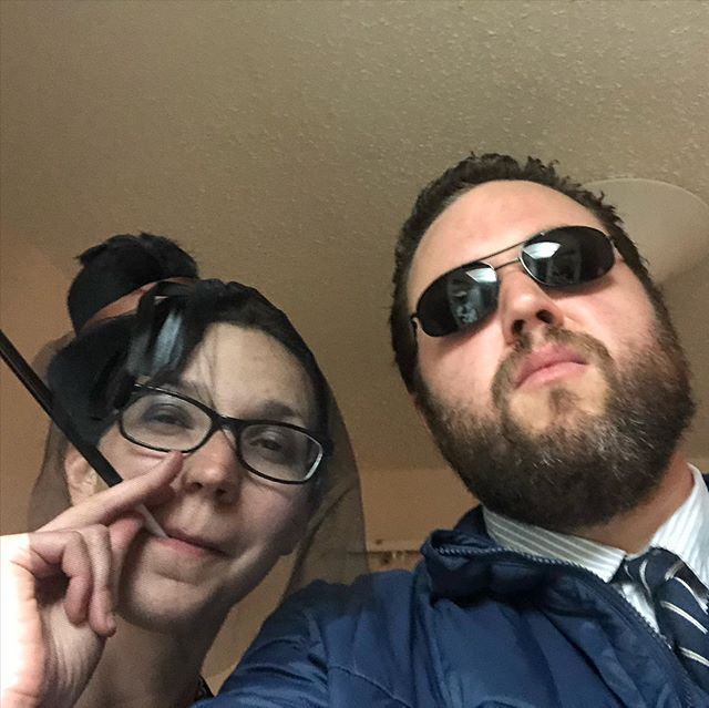 #tbt to last weekend when Brandon and Jackie were Bert Macklin and Janet Snakehole (apologies for the confusion to non #parksandrec fans)
