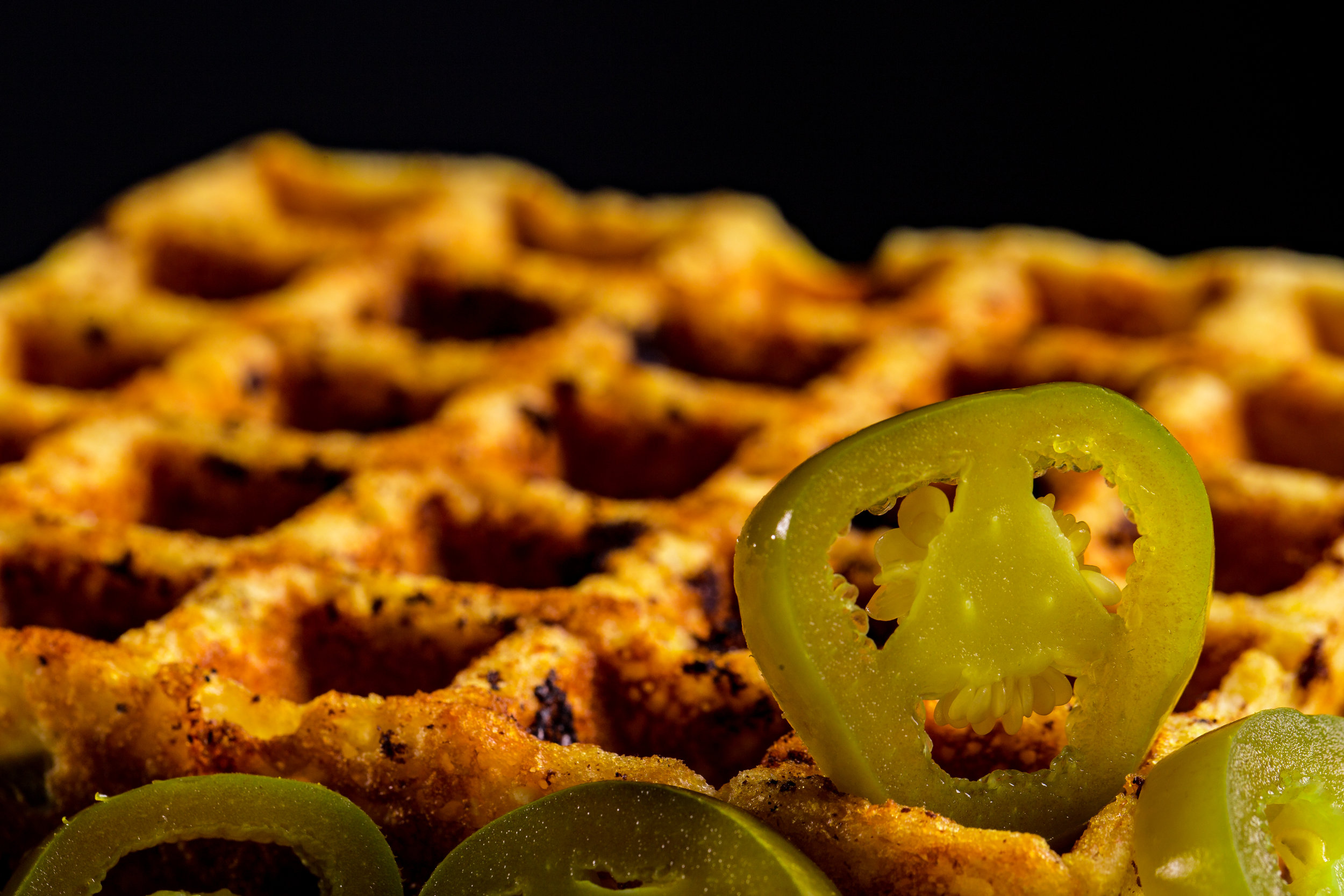 Jalapeno Cornbread Waffle - Our best seller!