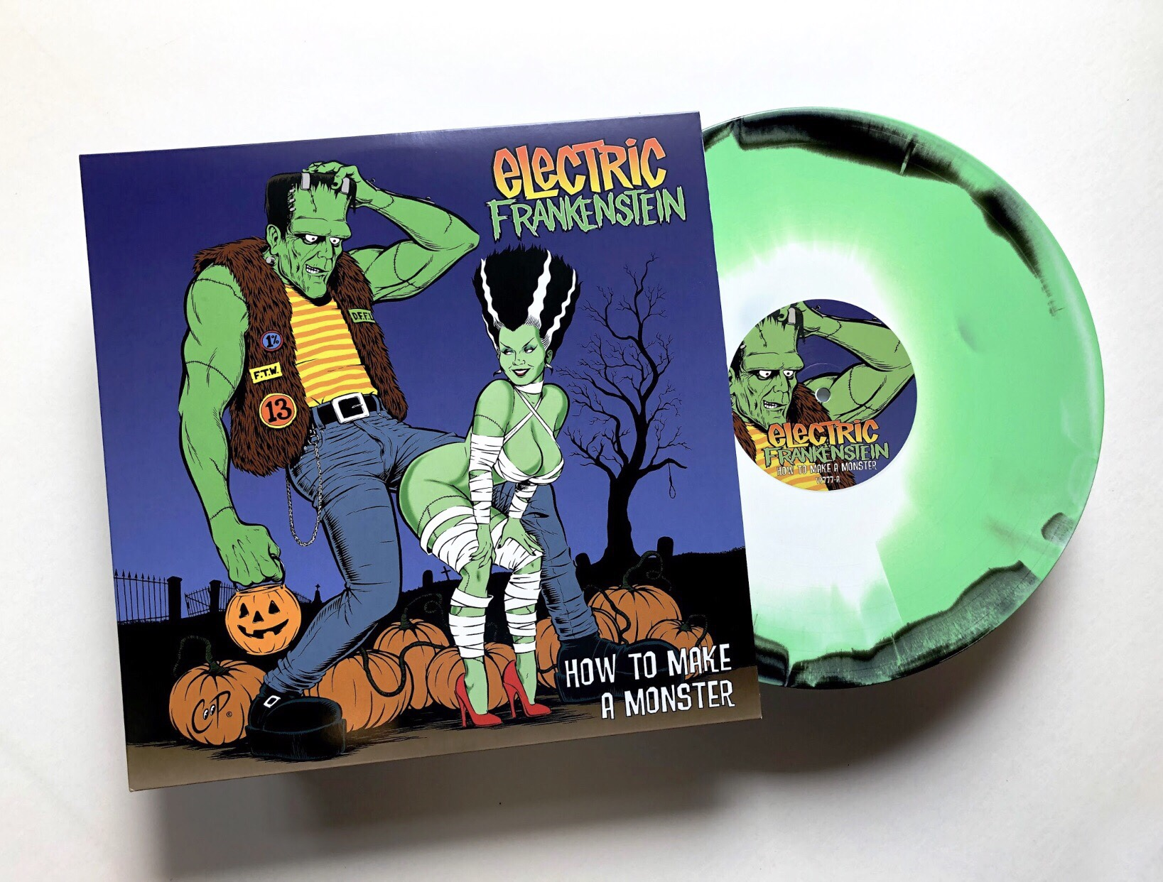 "ELECTRIC FRANKENSTEIN RE-ISSUE HOW TO MAKE A MONSTER - 20 Year Anniversary Remaster, Limited Edition Colored Vinyl with New Artwork and Extensive Liner NotesFull Album To Be Played Live In Its EntiretyThey never went away, but ELECTRIC FRANKENSTEIN is back celebrating the release of their 1999 masterpiece How To Make A Monster, with an all-new re-issue vinyl release. In addition to limited edition colored vinyl, the remastered album includes new artwork by friend and famed artist COOP, extensive liner notes by Joel Gausten with additional insights by Eddie Spaghetti (Supersuckers), Tony Reflex (Adolescents), Ace Von Johnson (Faster Pussycat), plus Captain Sensible (The Damned), a digital download and an 18″ x 24″ poster of COOP's 'Electric Bride.' The vinyl comes in limited quantities of black/white/green mix and orange/yellow mix and can be heard on all streaming platforms.""The re-release of How To Make A Monster was very important to us and we worked hard to make it something special for our fans,"" confides bass player Dan Canzonieri. ""It's hard to believe this record is 20 years old! We are celebrating this release by performing the album live in its entirety for the very first time in Europe starting in July. Our US fans will be able to see us play the album later this year and we will post dates as soon as they are confirmed. This includes around two return to Europe in the fall.""Originally released in 1999, the album was the band's first for Victory Records. Self-produced by ELECTRIC FRANKENSTEIN, How To Make A Monster is a cesspool of 'high octane punk rock, a blazing jam of stylishly low-slung rock and roll with attitude to the max,' as described by Metal Hammer. In addition to playing some of the most dynamic, ravenous, and menacing rock you've ever heard, ELECTRIC FRANKENSTEIN recognizes the importance of integrity – from giving proper nods to the architects of street-level rock (Iggy and the Stooges, AC/DC), to fiercely supporting indie labels, to their constant efforts to put fans first ahead of profit, and their non-stop mission of battering in-your-face rock to packed venues across the world.Listen to the album and order vinyl here.ELECTRIC FRANKENSTEIN ON TOUR 2019July 9th – Live at Lola – Grongingen, NetherlandsJuly 10th – Jugendhaus Schonau – Mannheim, GermanyJuly 11th – Wild At Heart – Berlin, GermanyJuly 12th – Monkeys Music Club – Hamburg, GermanyJuly 13th – SJOCK Festival – Gierle, BelgiumJuly 14th – Freak Show – Essen, GermanyJuly 15th – L'imposture – Lille, France"
