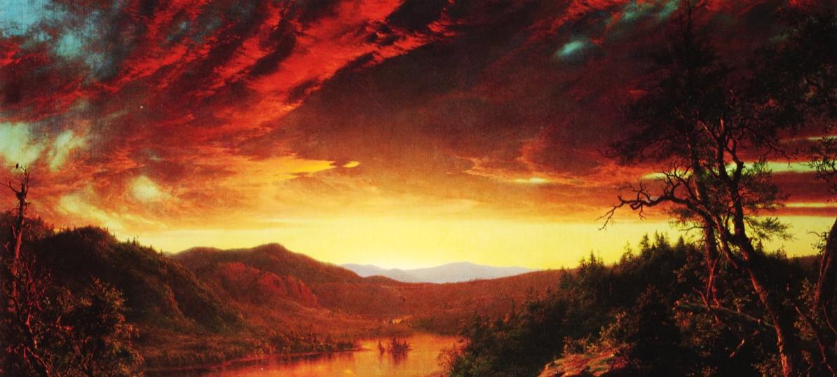 Twilight in the Wilderness  - Fredrick Church, 1860
