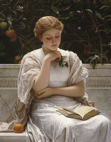 In the Orangery (1878) by Charles Edward Perugini