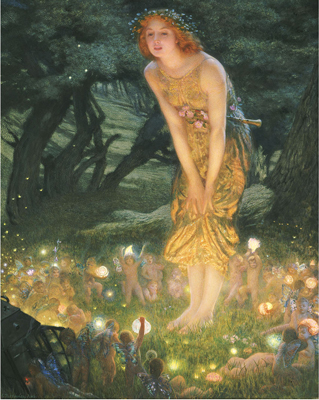 Midsummer Eve by Edward Robert Hughes, 1908