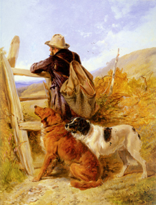 The Gamekeeper , Richard Ansdell 1815 - 1885