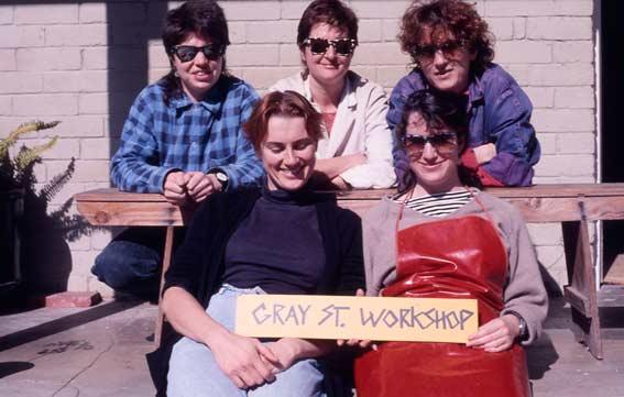 Back Row: Sue Lorraine, Catherine Truman, Anne Brennan  Seated: Julie Blyfied and Leslie Matthews