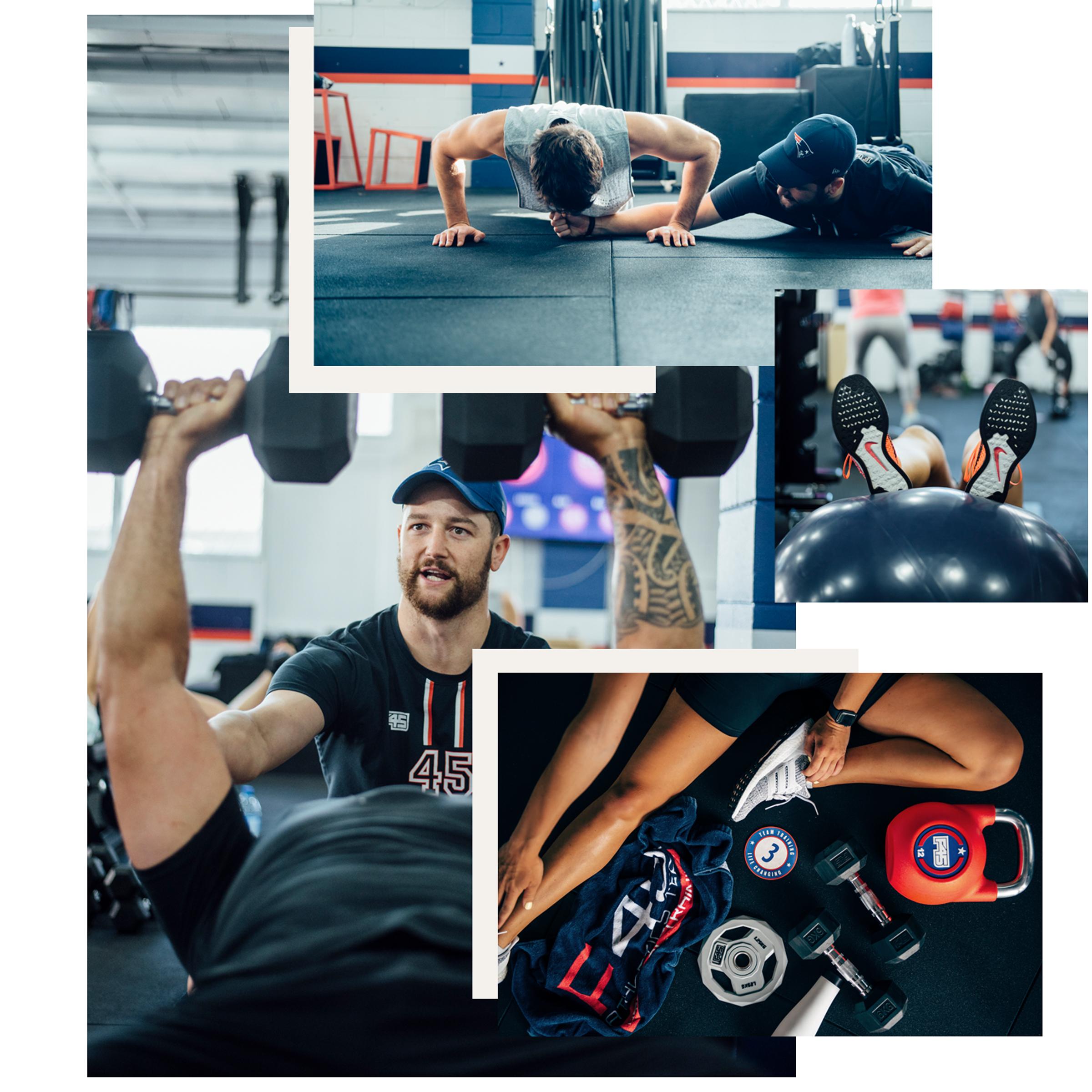 F45 TEAM TRAINING - F45 Takapuna needed unique imagery specific to their studio. F45 Training Global provides great assets for studios, however Takapuna wanted to recognise the uniqueness of their studio by including images of what makes them so - their members.Capturing in studio lifestyle imagery allowed us to showcase the amazing trainers and members working to their fitness goals and having fun while doing it.Imagery is used across the F45 Training Takapuna Instagram and Facebook. Having imagery of members is a useful way to get people excited about the brand by sharing their own experience, and in turn reaching a wider audience.