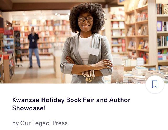 I'm super excited to announce my company's 1st Annual Kwanzaa Book Fair & Author Showcase! Hosted by @ourlegacipress in Annapolis,MD. We're excited to showcase a variety of amazing Black authors and Black owned businesses. If you live in the DC/DMV area, rsvp or sign up to participate at KwanzaaBookFair.Eventbrite.com.