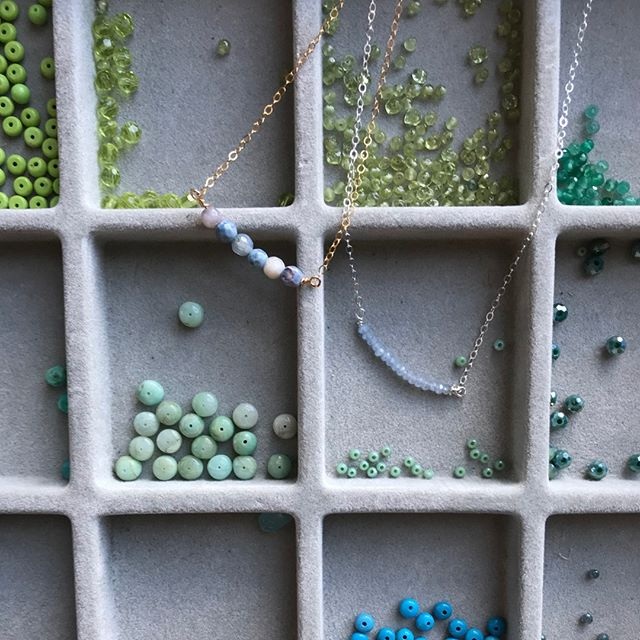I absolutely love making these necklaces! I have so much fun designing them, especially now after I organized my studio! This bead organization method works so well and makes my jewelry making experience so much better!⠀⠀⠀⠀⠀⠀⠀⠀⠀ Shop for one of these necklaces of your own at one of my shows, in Indigo Blue in Contoocook and Concord, NH, or dm me to find a time to come into my studio! ⠀⠀⠀⠀⠀⠀⠀⠀⠀ ⠀⠀⠀⠀⠀⠀⠀⠀⠀ ⠀⠀⠀⠀⠀⠀⠀⠀⠀ #beadorable #shoplocal #supportlocal #NH #ConcordNH #creativity #madewithlove #selfcare #spoilyourself #handmade #jewelry #jewelrydesign #shopforyou #shophandmade #livefree #HopkintonNH #NewEngland #MollyBrandt #smallbusiness #meaningful #sharethelove
