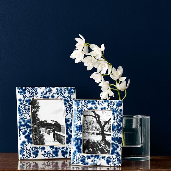 Blue and White Ceramic Frames