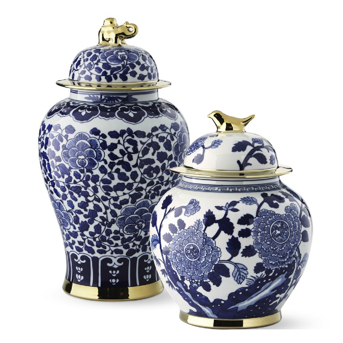 Ginger Jars with Figural Handles