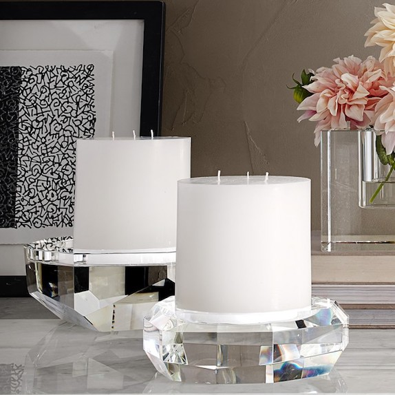 Faceted Crystal Pillar Holders
