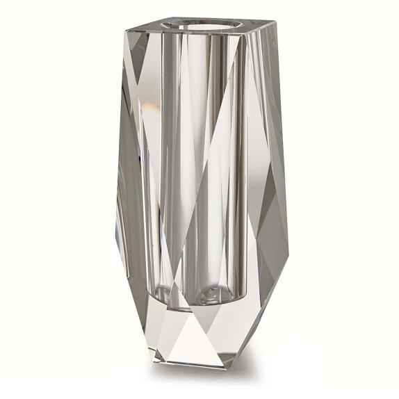 Faceted Crystal Vase