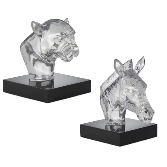 Resin Animals on Stone Stands