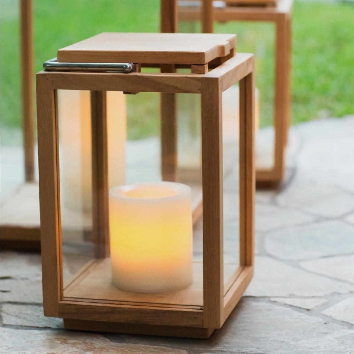 Larnaca Outdoor Teak Lanterns
