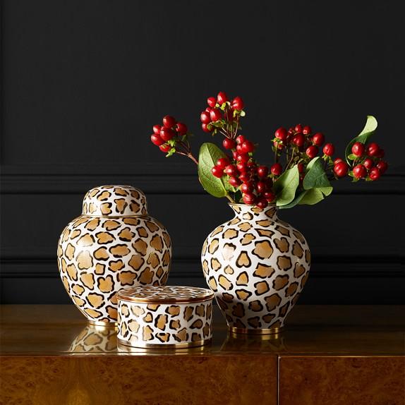 Leopard Cloisonne Vases