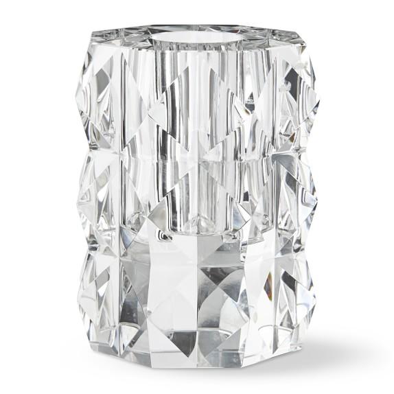 Sculpted Crystal Vase