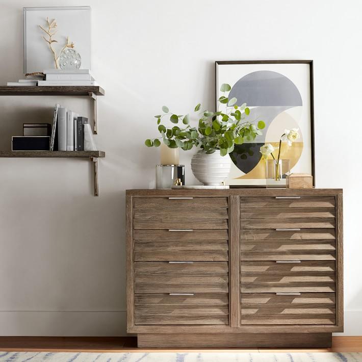 Customizable Wood Shelving, Grey Oak