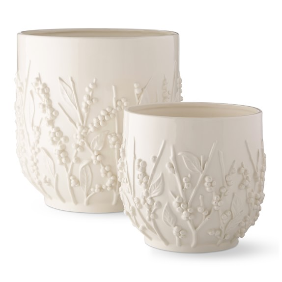AERIN Winterberry Ceramic Cachepots