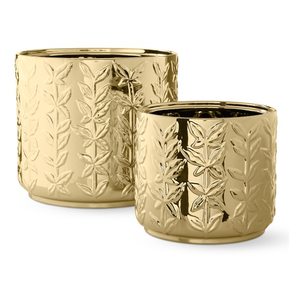 AERIN Winter Vine Ceramic Cachepots