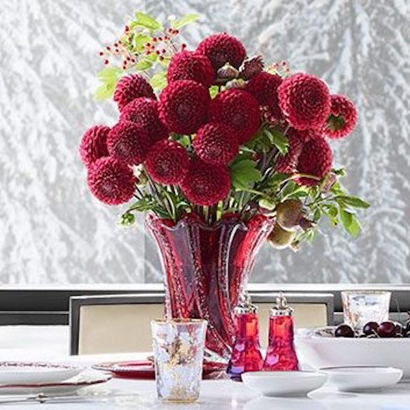AERIN Red Glass Bubble Vases
