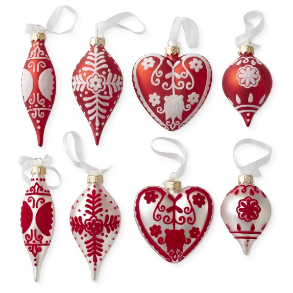 AERIN Glass Ornaments
