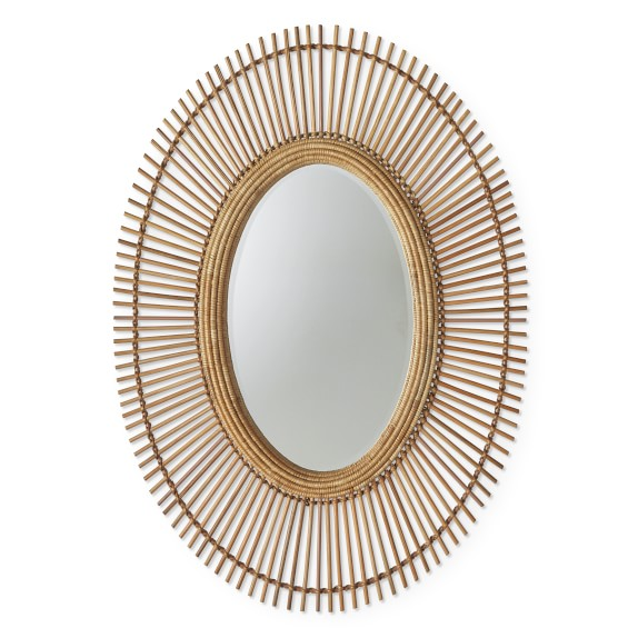 AERIN Wicker Mirror