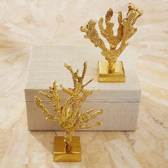 AERIN Brass Coral Sculptures