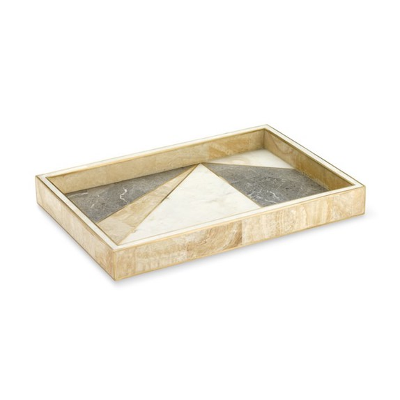 Geo Stone Inlay Tray