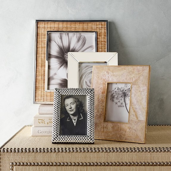 Silver and Woven Photo Frames