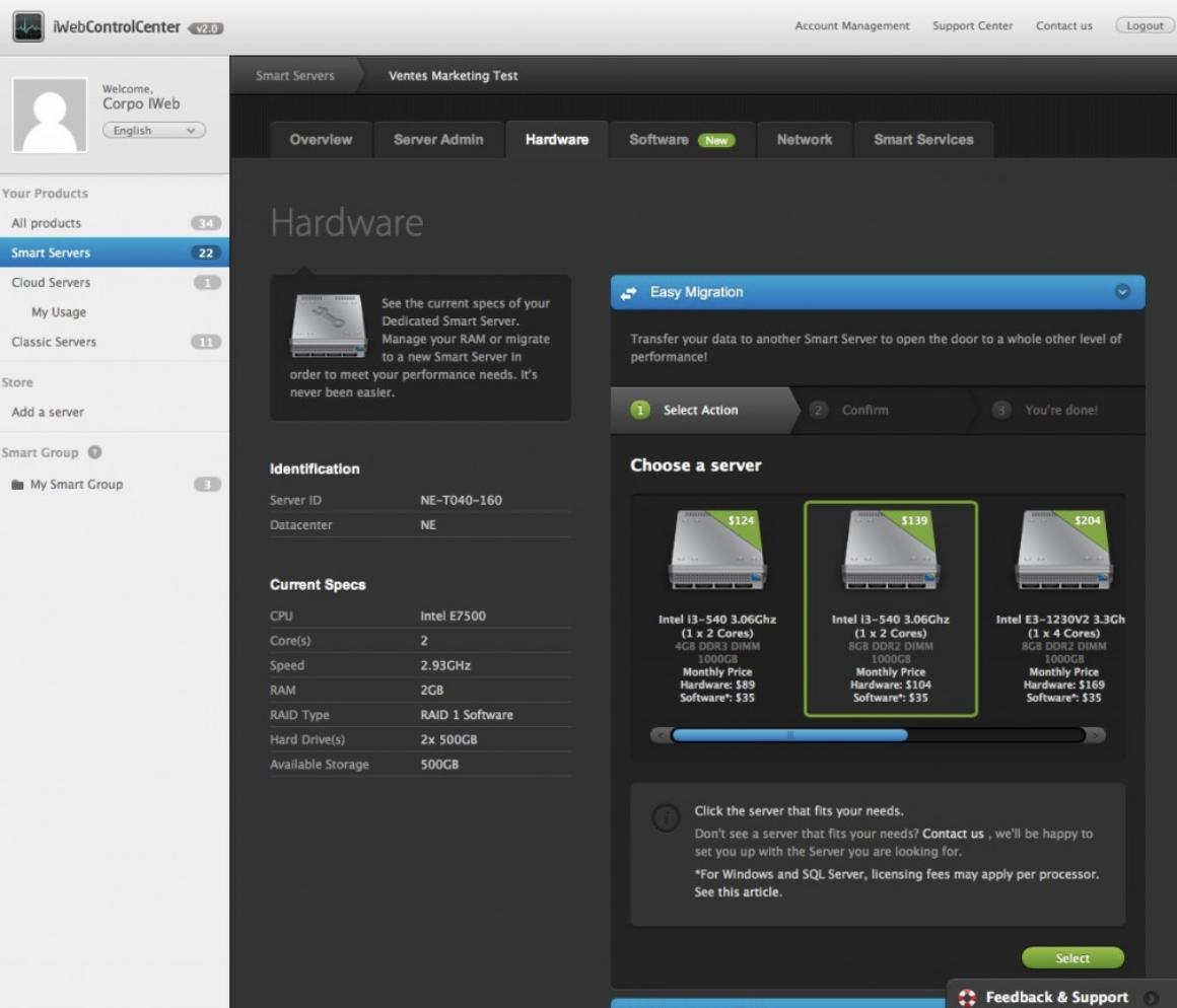 Smart Server Application - IWeb